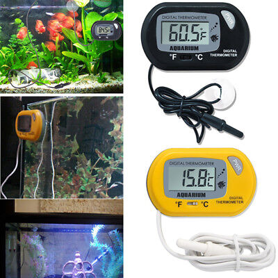LCD Digital Fish Tank Aquarium Thermometer Water Temperature Meter °C and °F