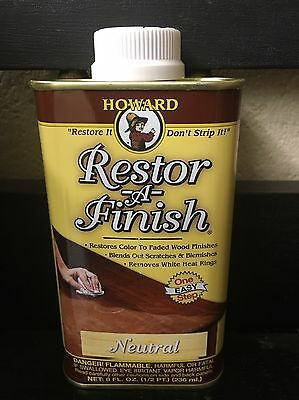 NEW HOWARD RESTOR-A-FINISH Neutral Wood Furniture Restorer 8 oz