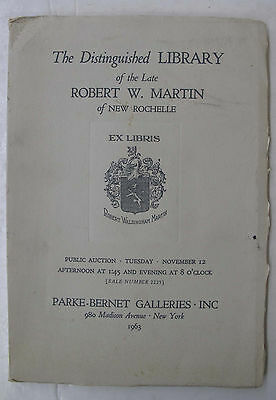 Parke Bernet Auction Catalogue Incunabula Incunables Illus. Robert W Martin 1963