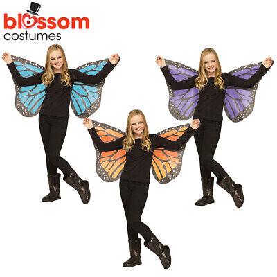 AC293 Child Soft Fabric Butterfly Wings Fairy Girl Nymph Pixie Costume Accessory