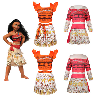 Girls Princess Moana Kids Cosplay Costume Party Dress Up Hawaiian Fancy Outfits  sc 1 st  PicClick IE & MOANA PRINCESS GIRL Fancy Dress Hawaiian Cosplay Dress Costume ...