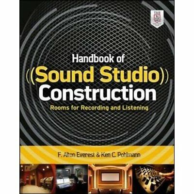 Handbook of Sound Studio Construction: Rooms for Record - Paperback NEW Ken Pohl