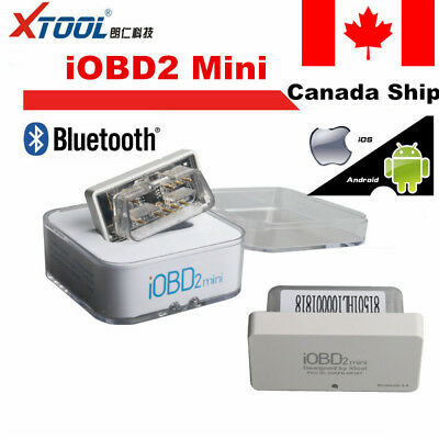 CA Ship XTOOL iOBD2 Mini OBD2 EOBD Scanner Support Bluetooth 4.0 for iOS/Android