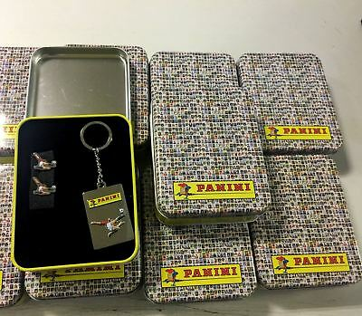 12 x Wholesale Panini Tin Men Gift Set Keyrings Cufflinks Party Clothes Accessor