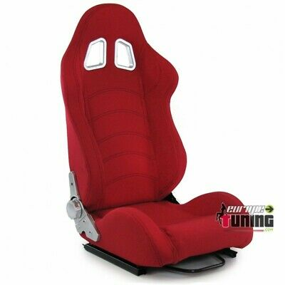 Siege Baquet Sport Rouge Reglable Universel Tuning (04127)