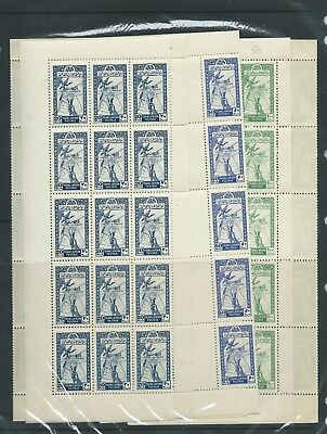 Transjordan 1946 20 mils 50 mils and 200 mils in full sheets unmounted mint MNH