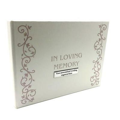 Personalised Memory Funeral Book Remembrance Guest Book FL303-P