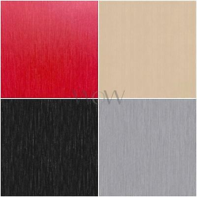Love Your Walls Shimmer Plain Wallpaper Metallic Multi Tonal Stripe - 4 Colours