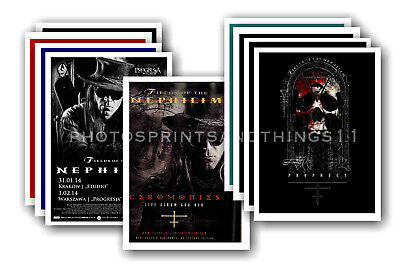 FIELDS OF THE NEPHILIM - 10 promotional posters  collectable postcard set # 3