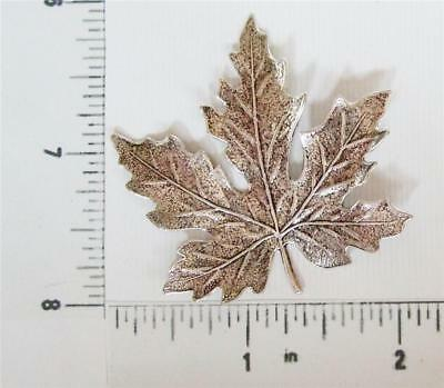 32994         Matte Silver Oxidized Victorian Maple Leaf Brass Jewelry Finding
