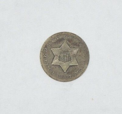 1851 Silver Three-Cent Piece GOOD 3c Trime
