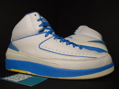 check out 5e140 a0e40 2004 Nike Air Jordan II 2 Retro CARMELO MELO ANTHONY WHITE BLUE YELLOW BLACK  11