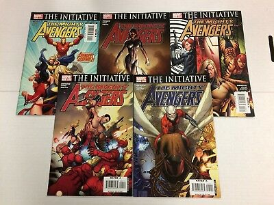 The Mighty Avengers #1 2 3 4 5 Comic Book Set Marvel 2007