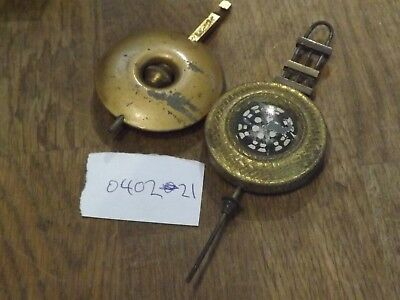 2 GOOD ANTIQUE   Clock Pendulums