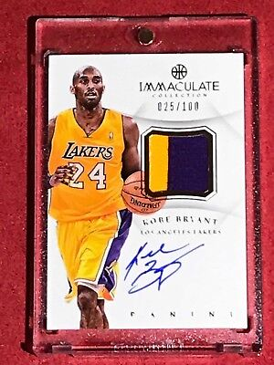 KOBE BRYANT 2012-13 IMMACULATE COLLECTION Prime Materials AUTOGRAPH 25/100 AUTO
