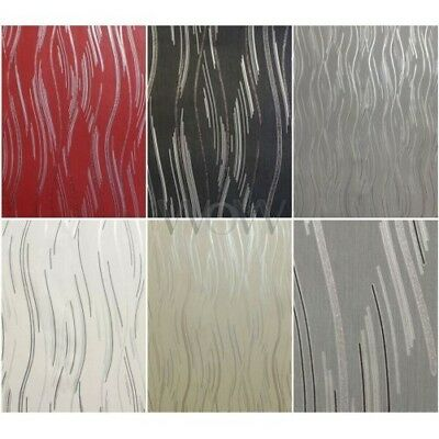 Love Your Walls Shimmer Wave Wallpaper Glitter Metallic Curved Stripe 5 Colours
