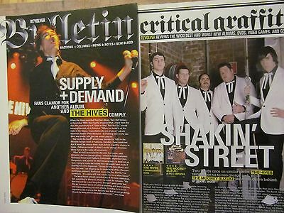 The Hives, Lot of TWO Full Page Clippings