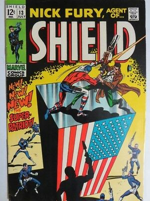 NICK FURY AGENT OF SHIELD 13 VF July 1969 COMICS BOOK