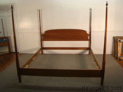 47050 Stickley Solid Cherry King Size Pencil Post Bed