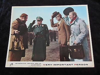 VERY IMPORTANT PERSON lobby card #2 STANLEY BAXTER, LESLIE PHILLIPS