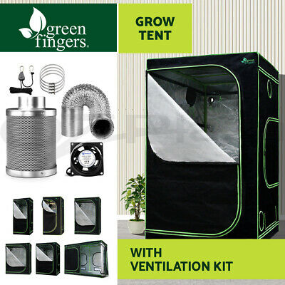 Greenfingers Hydroponics Grow Tent Ventilation Kit Aluminum Oxford Cloth