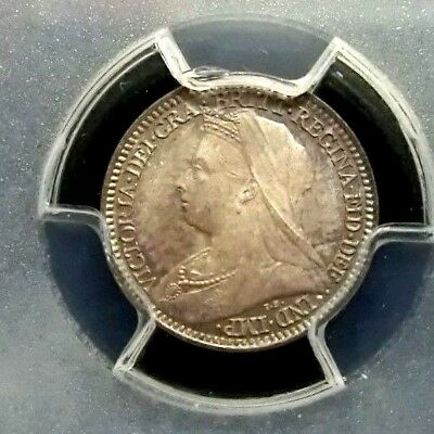 Great Britain 1898 Victoria PCGS PL65 Secure Silver 2 Pence GEM Prooflike Scarce