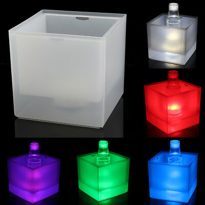LED Colour Changing Ice Bucket Champagne Wine Drinks Cooler Bar Party Occasions
