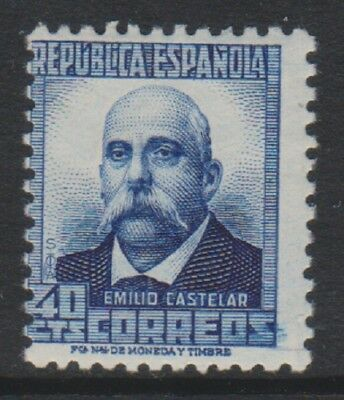 Spain - 1932, 40c Ultramarine stamp with Blue figures on back - L/M - SG 736A