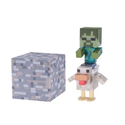 "New Official Minecraft Chicken Jockey  3"" Action Figure Toy"