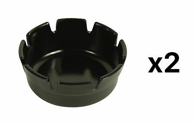 "Fox Run 4"" Plastic Melamine Ash Tray For Table Or Bar, Black, 6120 (2-Pack)"