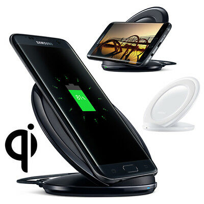 Qi Wireless Fast Charger Charging Stand Dock Pad For Samsung Note8 S8 S7 S9+ S9