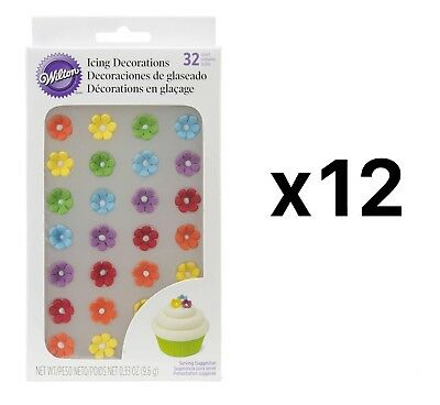 """Wilton Royal Flower Rainbow Icing Decoration 1/2"""" Daisies 32 Count (12-Pack)"""
