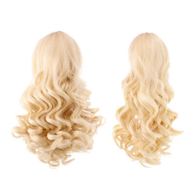 2 Wavy Curly Hair Wig for 18inch American Girl Doll DIY Making ACCES #4+#10