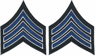 Pair of Police Sergeant Rank Insignia patches