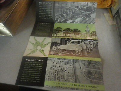 Vintage Dearborn,Michigan Henry Ford Museum, Rouge Plant,Travel Brochure