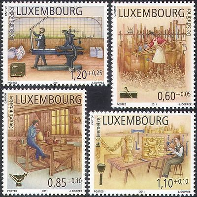 Luxembourg 2011 Trades/Workers/Printing/Stonemason/Pottery/Joiner 4v set n42482