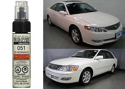 Genuine Toyota 00258-00051-21 Diamond White Pearl 051 Touch-Up Paint Pen New