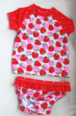 Gymboree Baby Girl STRAWBERRY Rash Guard Bathing Suit *NWT*18 24 mos Swimsuit