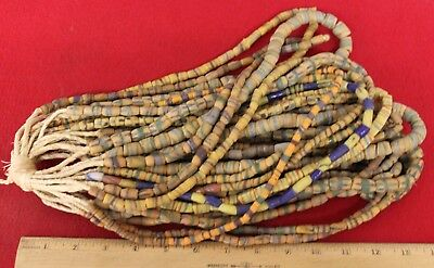 Bundle of (20) Strands of Sandcast Trade Beads #6....Buy It Now