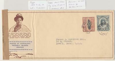 Tonga 1940 Rare Censor Cover To Usa, Poss Only 3 Examples Known (See Below)