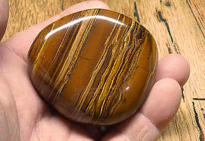 Tiger Iron Massage Therapy Stone 9.2 Oz Polished Tigers-Eye Iron Stripes 07750