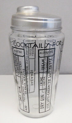 Vintage-Modern-Mid-Century-Cocktails-for-6-Barware-Glass-Shaker-Free-Shipping