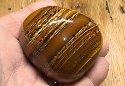 Tiger Iron Massage Therapy Stone 9.8 Oz Polished Tigers-Eye Iron Stripes 07724