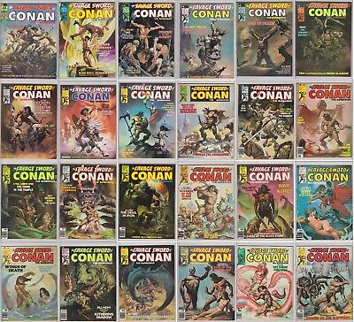 SAVAGE SWORD OF CONAN 1-235 (COMPLETE SERIES/FULL RUN) Plus Extras FREE SHIPPING