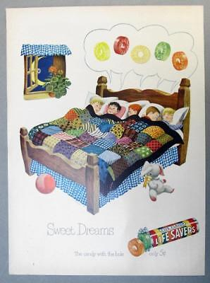 EYECATCHING Original 1950 Life Savers Candy Ad FIVE FLAVORS....SWEET DREAMS