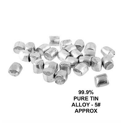 Pure Tin (99.9%) Casting Metal - 5 LB  Approx Pack