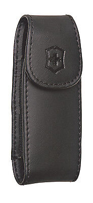 Victorinox Swiss Army Large Black Leather Clip Pouch - BRAND NEW