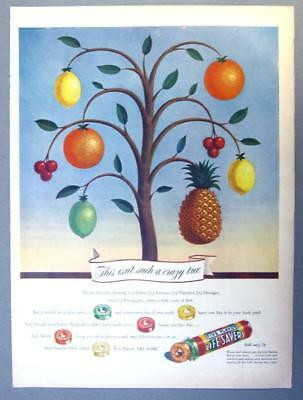 EYECATCHING Original 1946 Life Savers Candy Ad THIS ISN'T SUCH A CRAZY TREE
