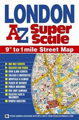 London Super Scale Map (Street Map) by Geographers A-Z Map Com Sheet map, folded