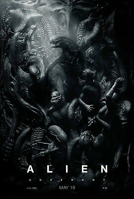 "ALIEN COVENANT 2017 Advance Teaser Version C DS 2 Sided 27x40"" US Movie Poster"